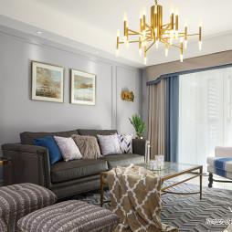 简单大方美式客厅吊灯设计
