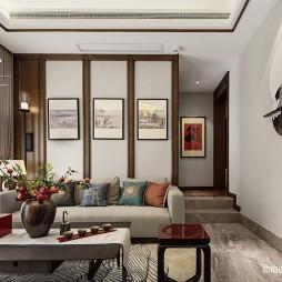 中式别墅客厅背景画设计