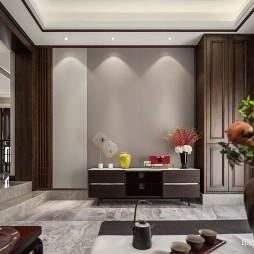 中式别墅客厅柜设计