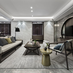 190㎡现代中式客厅设计