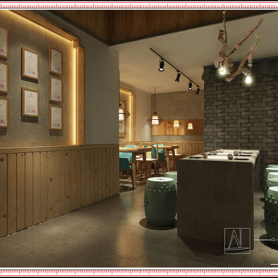 餐厅设计效果图:豆香源南宁会展航洋城店