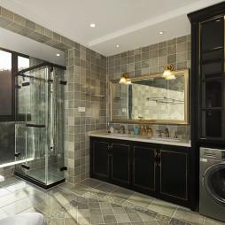 淡雅美式卫浴储物柜设计图