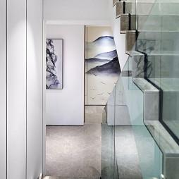 双拼别墅样板房楼梯设计