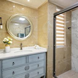 美式轻奢卫浴洗手台设计图