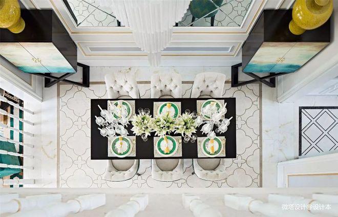 自然美式风别墅餐厅设计图
