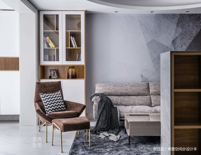 现代复式客厅储物柜设计
