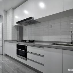 黑白简约厨房设计图片