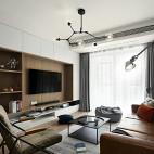 北欧风三居客厅吊灯设计图片