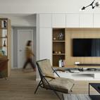 北欧风三居客厅背景墙设计图