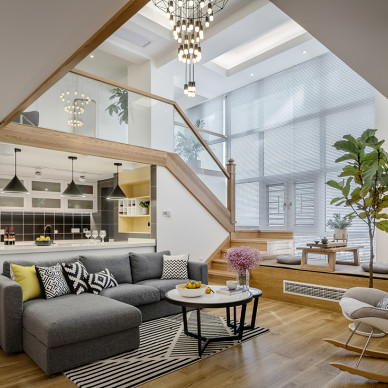 96平北欧客厅设计图