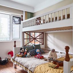 美式四居儿童房上下铺设计图
