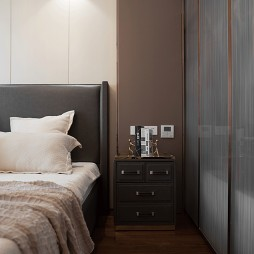 现代三居卧室床头柜设计图