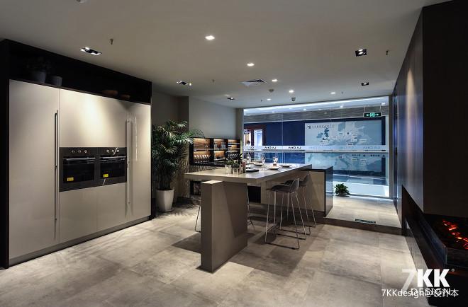 宜山路200m²高端定制橱柜展厅设计