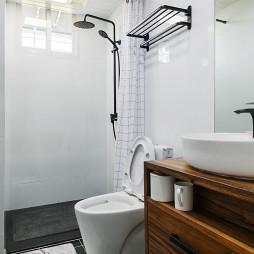 简单混搭风小户型卫浴设计图