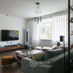 简单混搭风小户型客厅设计图片