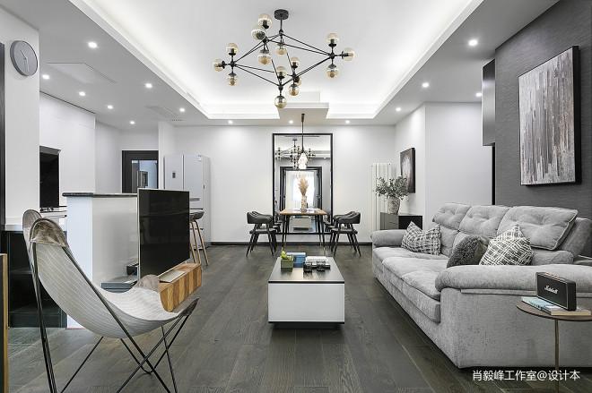 现代质感客厅吊灯设计图