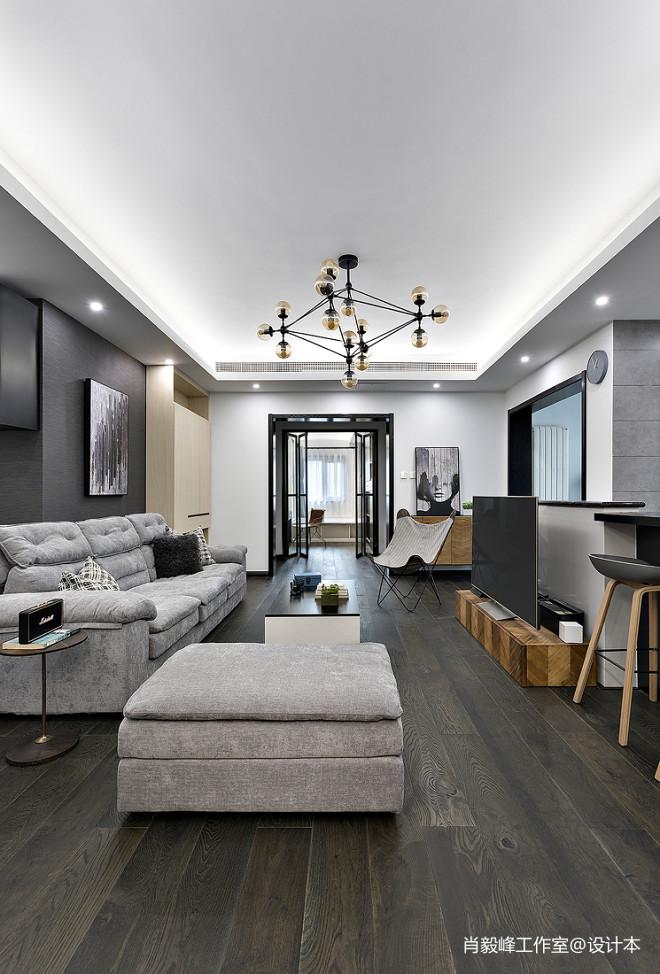 现代质感客厅设计实景图片