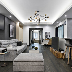 現代質感客廳設計實景圖片