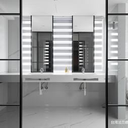 现代豪宅卫浴洗手台设计图
