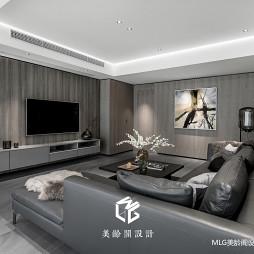 170㎡现代客厅背景墙设计图