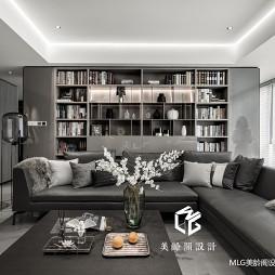 170㎡现代客厅储物架设计图
