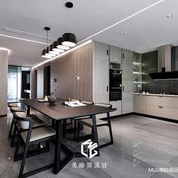 170㎡现代餐厅厨房一体设计图