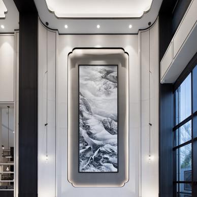 厦门中海上湾销售中心壁画图