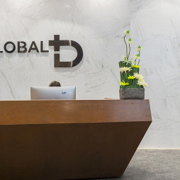广州德家分公司星光映景办公室前台设计图