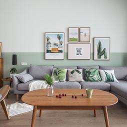 清新简洁北欧风客厅沙发图