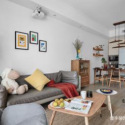 北欧简白三居客厅设计图