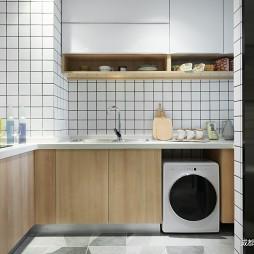 簡約樣板間半開放廚房設計圖
