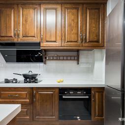 189㎡轻美式风格厨房吊柜设计图