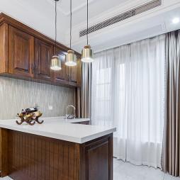 189㎡轻美式风格厨房吊柜设计图片