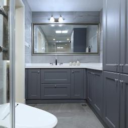 美式简约卫浴储物柜设计图