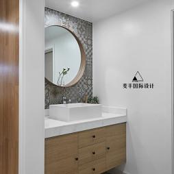 北欧卫浴拼花瓷砖设计实景图