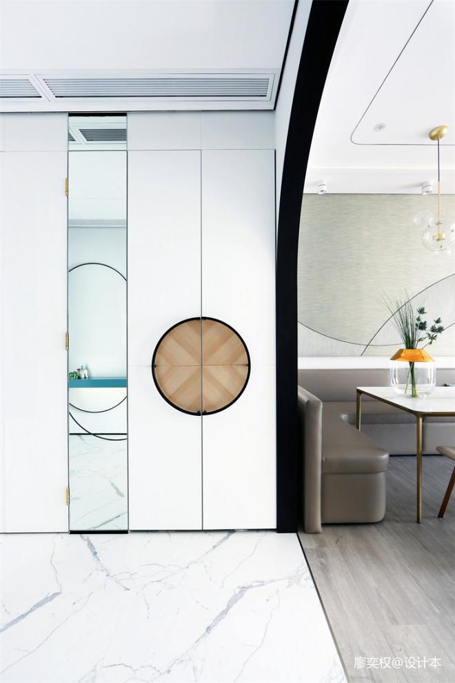 香港贝沙湾豪宅过道置物柜设计图