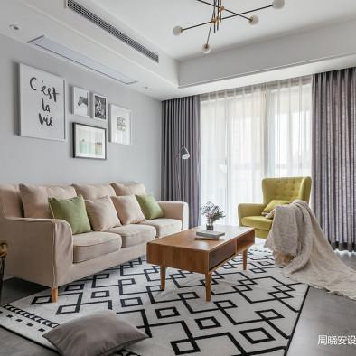 灰色系北欧客厅设计图片