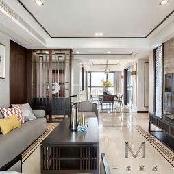 優雅中式客廳設計圖