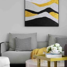 黑白系现代客厅装饰画设计图