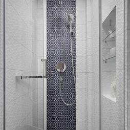 黑白系现代淋浴区设计图