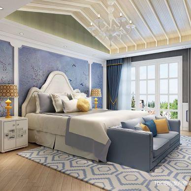 家装室内装修设计师浪漫法式风格全屋施工效果图_3278475