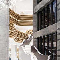 国际东方售楼处楼梯设计图片