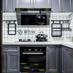 简洁美式二居厨房设计图