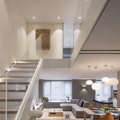 北欧轻奢Loft楼梯设计