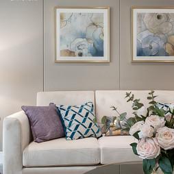 轻奢客厅挂画设计图