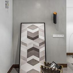 130㎡现代风玄关装饰画设计图