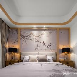 中式四居主卧室设计图片