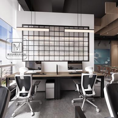 文化传媒公室办公室设计——醒来文化传媒_3283060