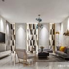 600㎡瓷砖展厅休息区设计图