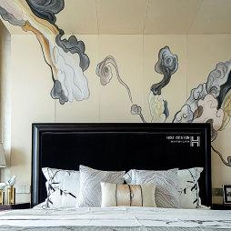 中式卧室背景墙设计图片